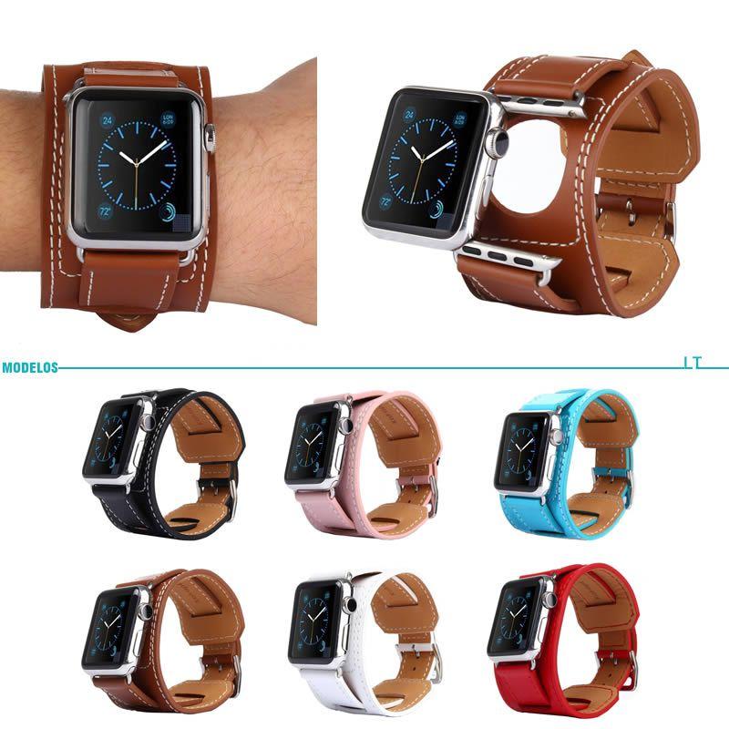 4a445cf4c44 Pulseira Hermes Cuff Couro Apple Watch 42 44mm