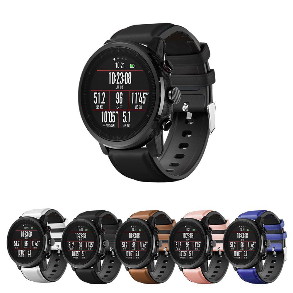 Pulseira Híbrida compatível com Amazfit GTR 47mm - Galaxy Watch 3 45mm - Galaxy Watch 46mm - Gear S3 Frontier - Amazfit Stratos 3