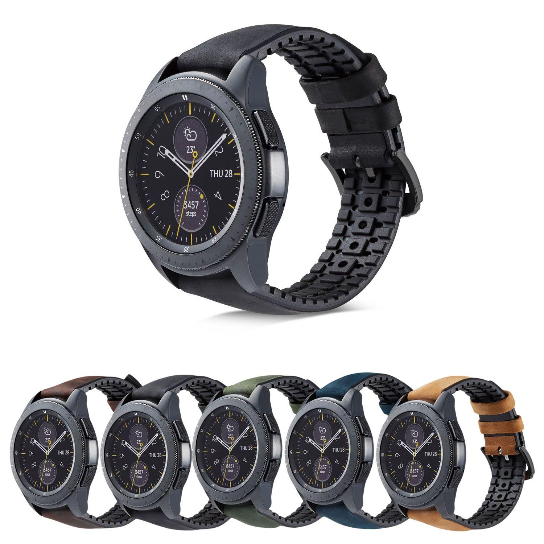 Pulseira Híbrida compatível com Samsung Galaxy Watch 3 45mm - Galaxy Watch 46mm - Gear S3 Frontier Classic - Amazfit GTR 47mm - Huawei Watch GT 2 46mm