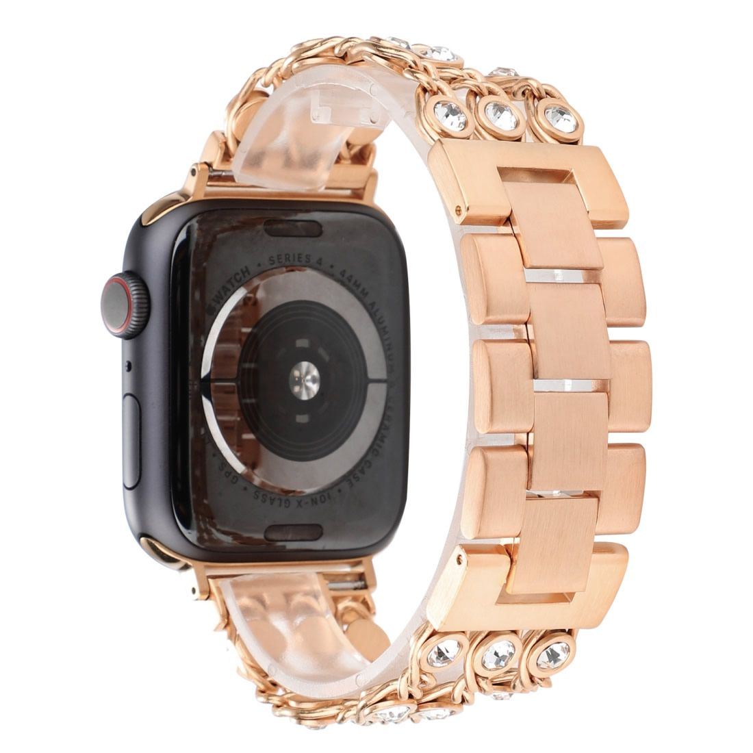 Pulseira Luxury Euforia compatível com Apple Watch 40mm e 38mm (ROSA GOLD)