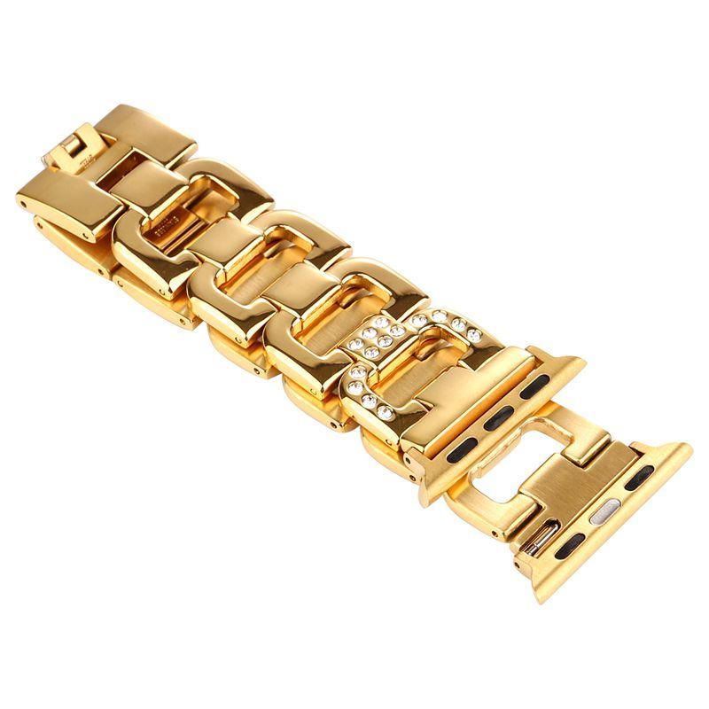 Pulseira Luxury compatível com Apple Watch 40mm e 38mm (DOURADO)