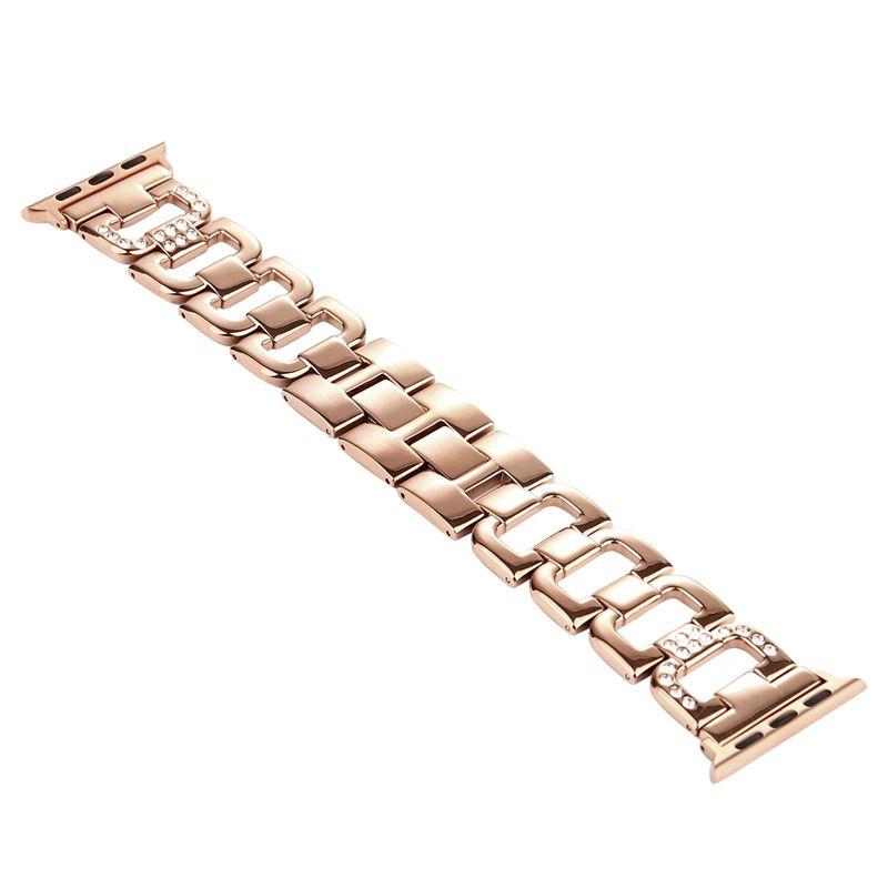Pulseira Luxury compatível com Apple Watch 40mm e 38mm (ROSE GOLD)