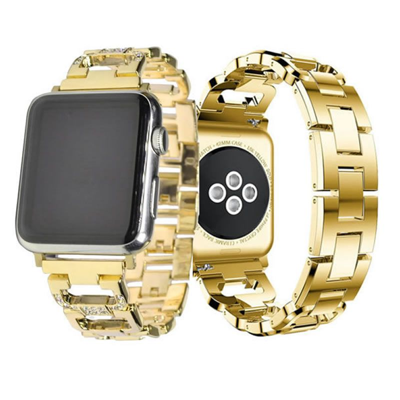 Pulseira Luxury compatível com Apple Watch 44mm e 42mm (DOURADO)