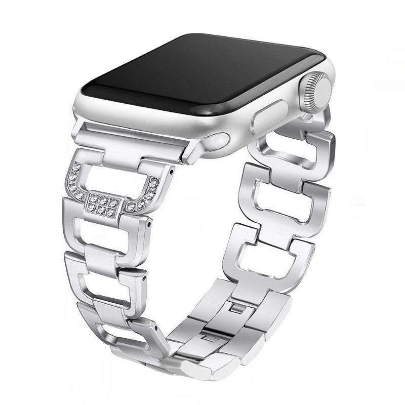 Pulseira Luxury para Apple Watch 44mm e 42mm (Prata)
