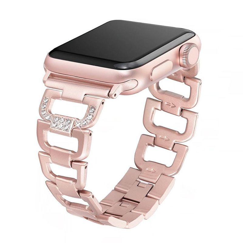 Pulseira Luxury compatível com Apple Watch 44mm e 42mm (ROSE GOLD)