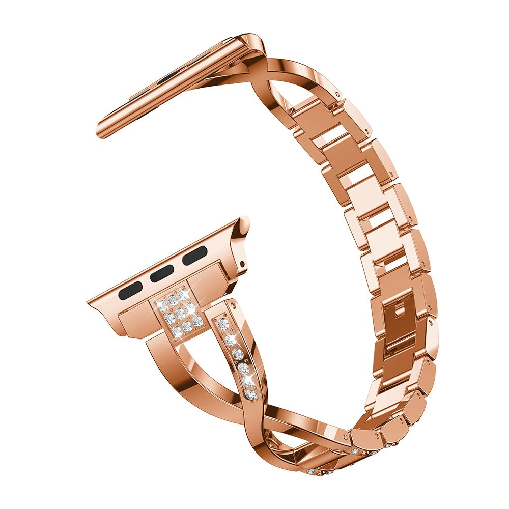 Pulseira Luxury X compatível com Apple Watch 38mm e 40mm (ROSE GOLD)
