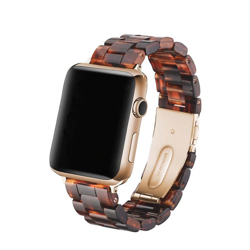 Pulseira 3 Elos Madrepérola compatível com Apple Watch 44mm e 42mm (TARTARUGA)