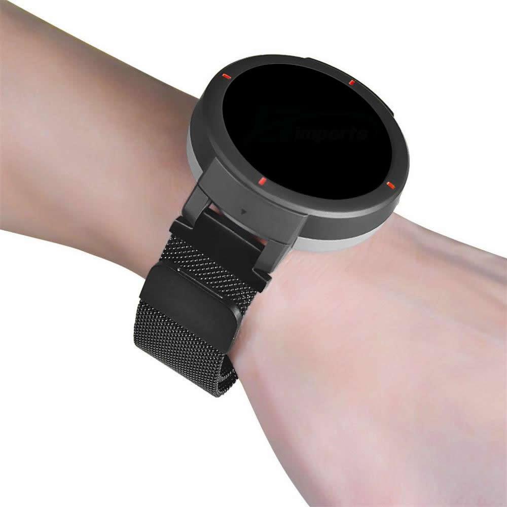 Pulseira Magnética Milanese compatível com Amazfit Verge A1811 A1801 e Amazfit Verge Lite A1818