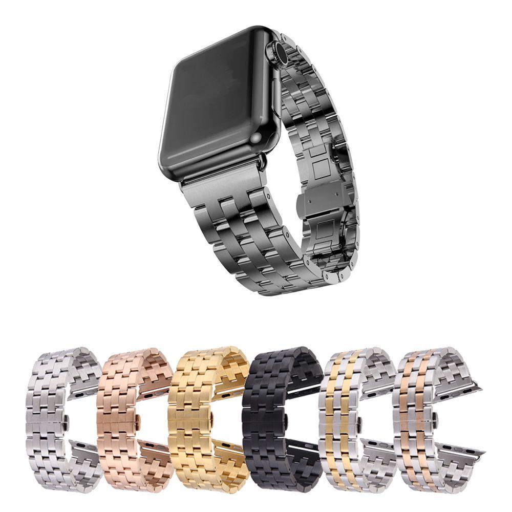 Pulseira Metal 5 Elos compatível com Apple Watch 44mm e 42mm