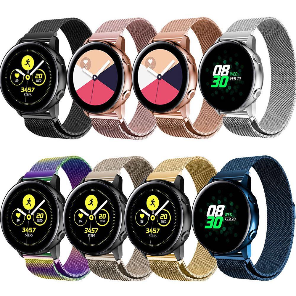 Pulseira Magnética Milanese compatível com Samsung Galaxy Watch Active 40mm 44mm - Galaxy Watch 3 41mm - Galaxy Watch 42mm - Amazfit GTR 42mm BIP GTS