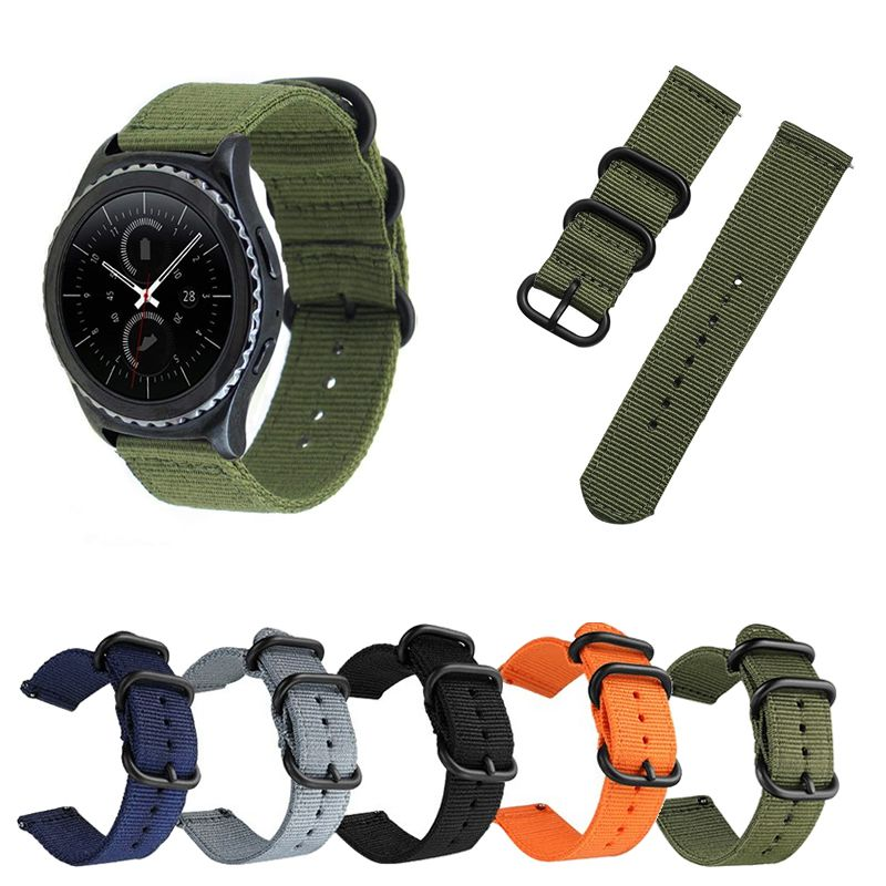 Pulseira Militar Nylon compatível com Samsung Galaxy Watch 3 45mm - Galaxy Watch 46mm - Gear S3 Frontier - Amazfit GTR 47mm - Huawei Watch GT 2 46mm