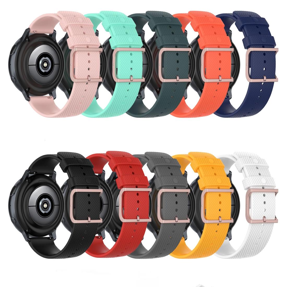 Pulseira 20mm Moderna V2 Fivela Rose compatível com Samsung Galaxy Watch 3 41mm - Galaxy Watch Active 1 e 2 - Galaxy Watch 42mm - Amazfit BIP - GTS - GTR 42MM