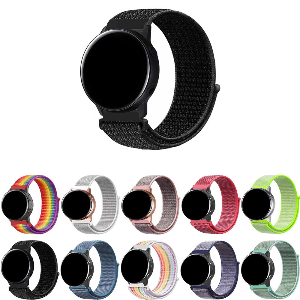 Pulseira Nylon Loop compatível com Samsung Galaxy Watch Active 40mm 44mm - Galaxy Watch 3 41mm - Galaxy Watch 42mm - Amazfit GTR 42mm - Amazfit Bip