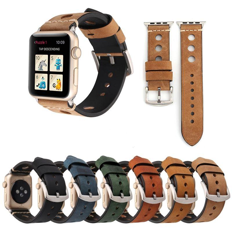 Pulseira de Couro Retro compatível com Apple Watch 40mm e 38mm