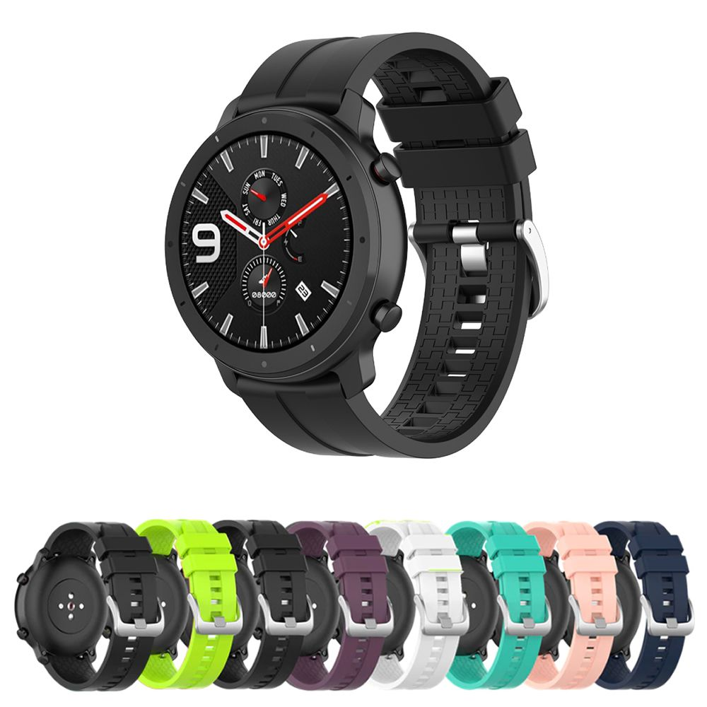 Pulseira Silicone 22mm compatível com Amazfit GTR 47mm - Stratos3 - Galaxy Watch 46mm - Gear S3 Frontier - Galaxy Watch 3 45mm - Huawei Watch GT2 46mm