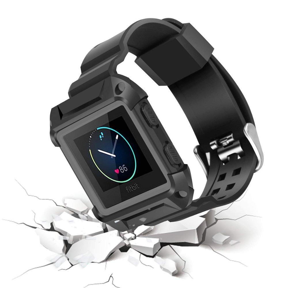 Pulseira Silicone Armadura para Fitbit Blaze