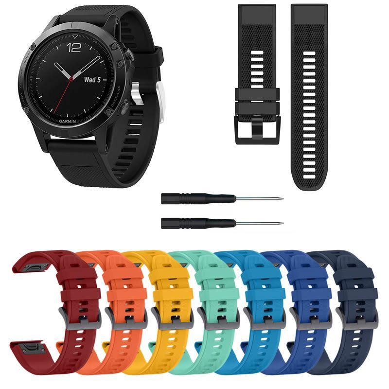 Pulseira Silicone para Relógio Fenix 5 - Fenix 5 Plus - Fenix 6 - Forerunner 935 - Forerunner 945 - Quatix 5