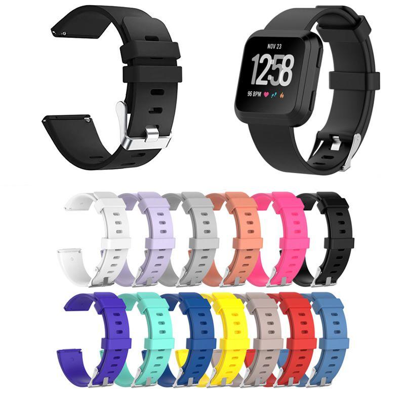 Pulseira Silicone compatível com Fitbit Versa - Fitbit Versa 2 - Fitbit Versa Lite - Cores Lisas
