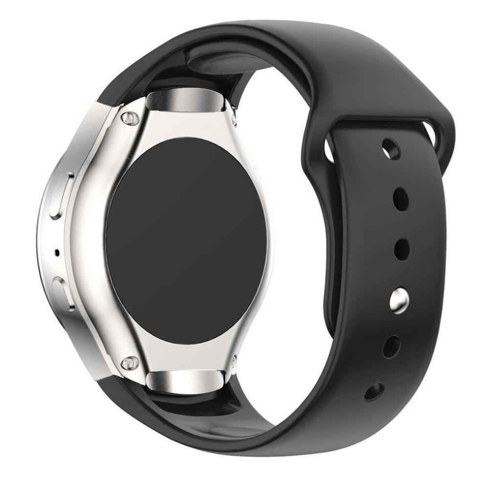 Pulseira Silicone para Samsung Gear S2 Sport (Preto)