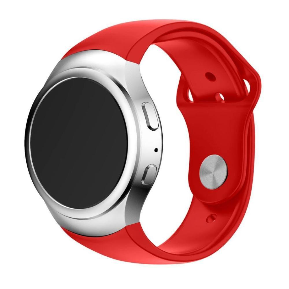 Pulseira Silicone compatível com Samsung Gear S2 Sport (Vermelho)