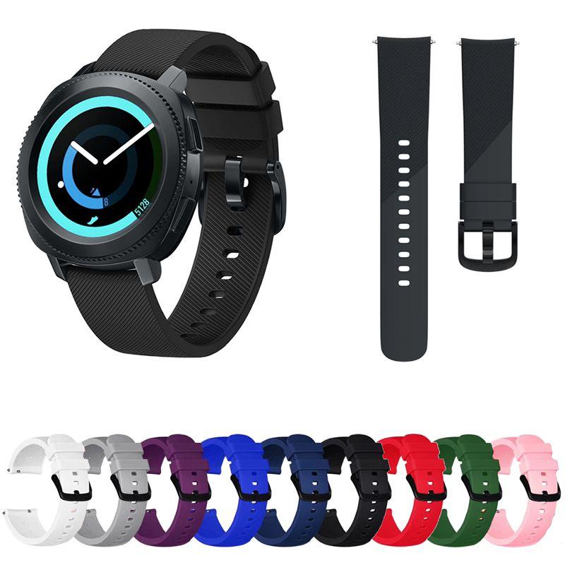 Pulseira Silicone compatível com Samsung Gear Sport R600 - Galaxy Watch Active - Galaxy Watch 3 41mm - Galaxy Watch 42mm Amazfit GTR 42mm Amazfit Bip