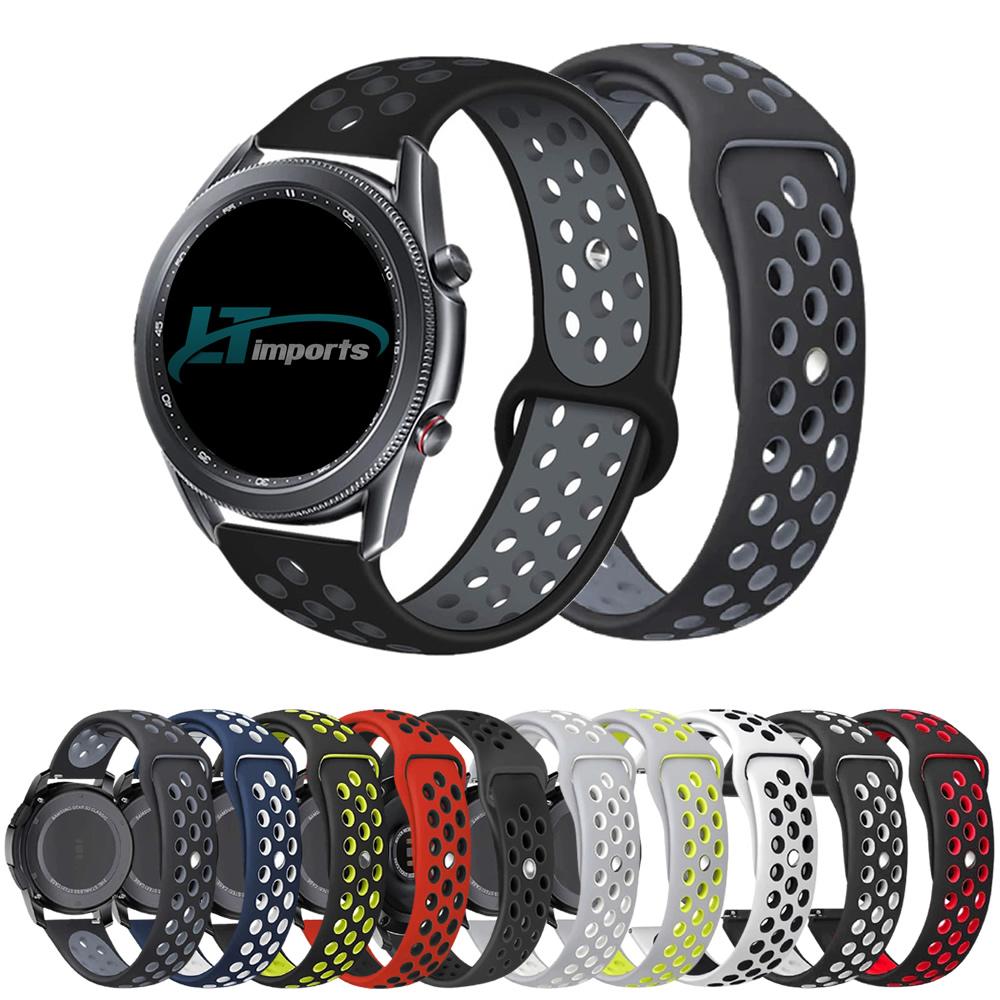Pulseira Sport compatível com Samsung Galaxy Watch 3 45mm - Galaxy Watch 46mm - Gear S3 Frontier - Amazfit GTR 47mm