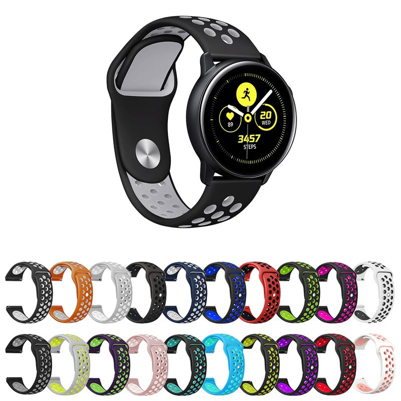 Pulseira Sport compatível com Samsung Galaxy Watch Active 44mm 40mm - Galaxy Watch 3 41mm - Galaxy Watch 42mm - Amazfit GTR 42mm - GTS - Amazfit Bip