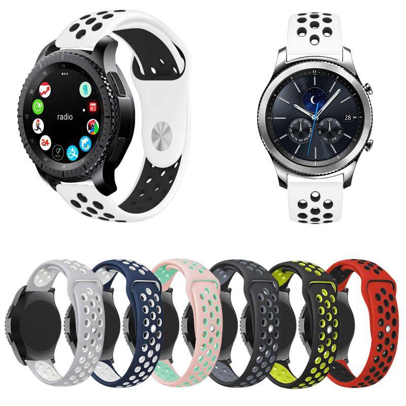 Pulseira Sport compatível com Samsung Galaxy Watch 3 45mm - Galaxy Watch 46mm - Gear S3 Frontier - Amazfit GTR 47mm Stratos 3 - Huawei Watch GT 2 46mm