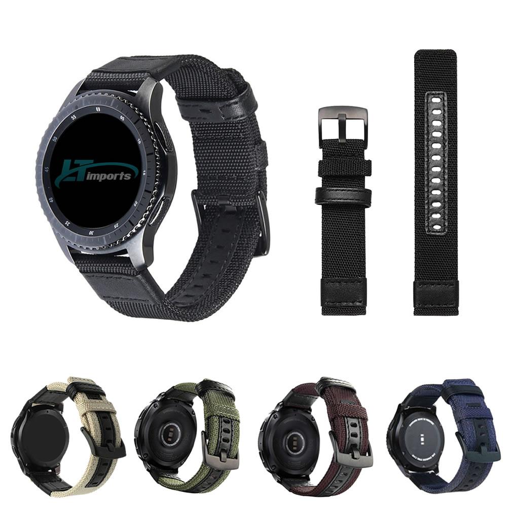 Pulseira Tour em Nylon compatível com Samsung Galaxy Watch 3 45mm - Galaxy Watch 46mm - Gear S3 Frontier - Amazfit GTR 47mm