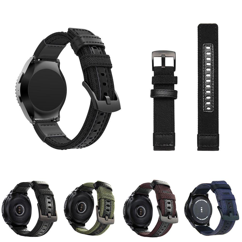 Pulseira Tour em Nylon compatível com Samsung Galaxy Watch Active 44mm 40mm - Galaxy Watch 3 41mm - Galaxy Watch 42mm - Amazfit GTR 42mm - Amazfit Bip