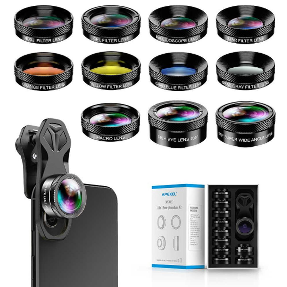 Super KIT Apexel Phone 11 Lentes para Celulares Universal - Modelo APL-DG11
