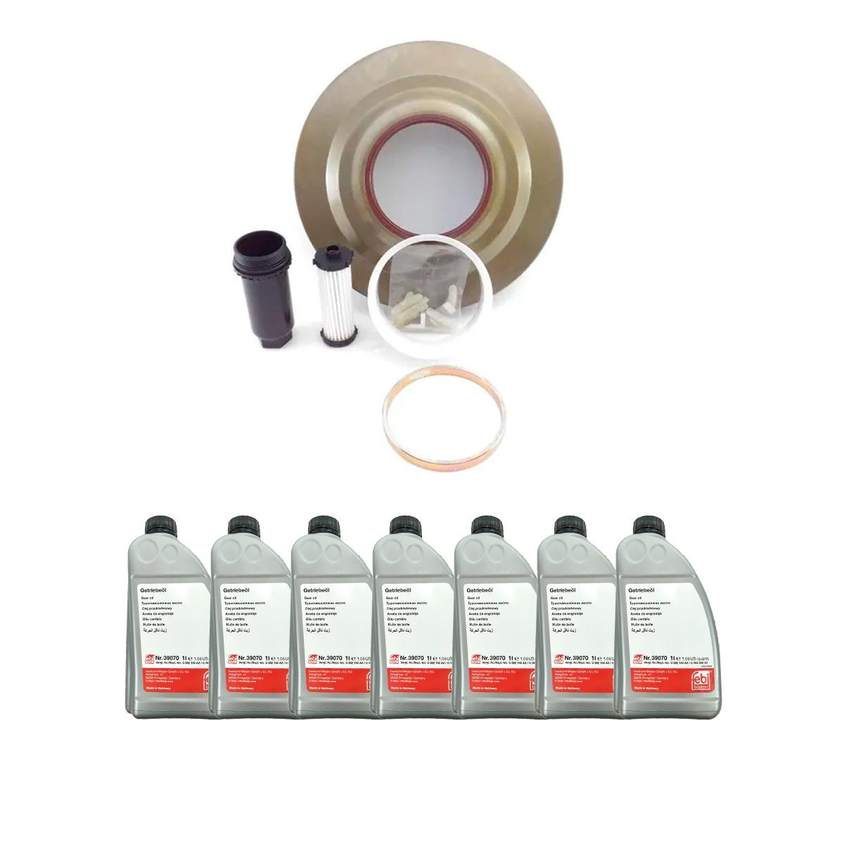 KIt troca de óleo Com Filtro Refil Cambio Automático 6dct450 Volvo