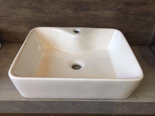Cuba Apoio Banheiro Porcelana Sobrepor Cerâmica Louça 47x35 cod1507