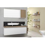 Armario De Banheiro Balcão Cristalo 120 Mazzu