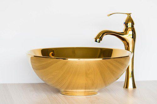 Cuba De Apoio Redonda 40cm Dourada Gold Movel