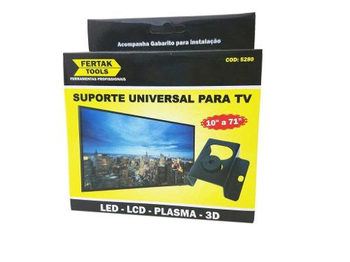 Suporte Parede Tv Led Lcd Plasma Até 71 Pol Philco Lg Samsun
