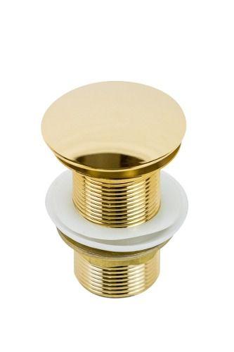 Válvula Click Para Cuba Louça Dourada Gold Cor Ouro