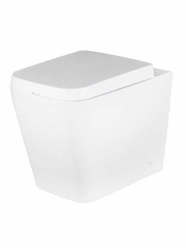 Vaso Sanitário Quadrado Convencional Bacia Lux Com Assento Soft Close