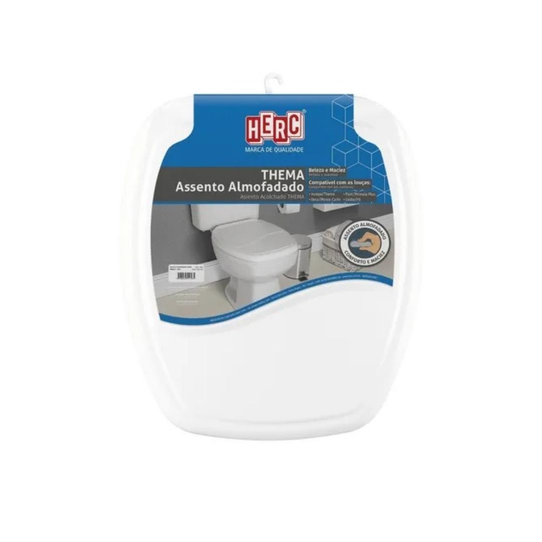 Assento Sanitário Almofadado Thema Branco Herc - Resistente