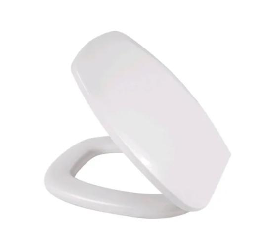 Assento Almofadado Retangular Branco P Vaso Thema