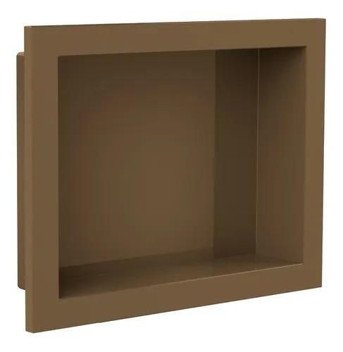 Nicho Para Banheiro Parede Embutir 30x40cm Bronze