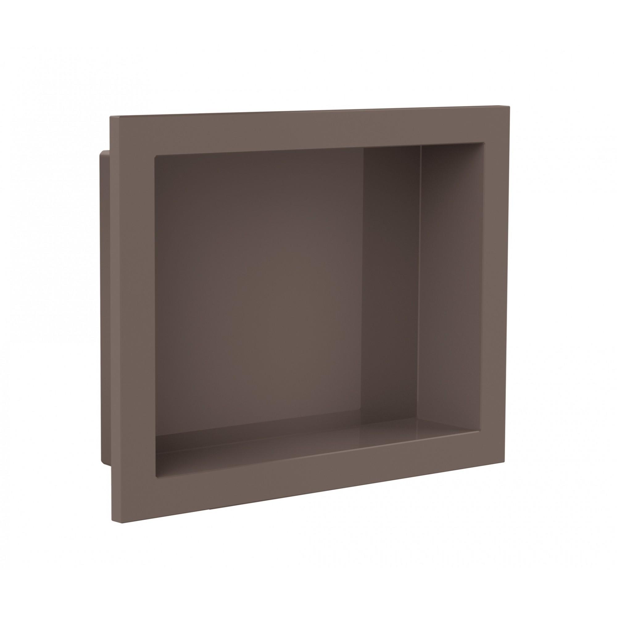 Nicho Para Banheiro Parede Embutir 30x40cm Cappucino