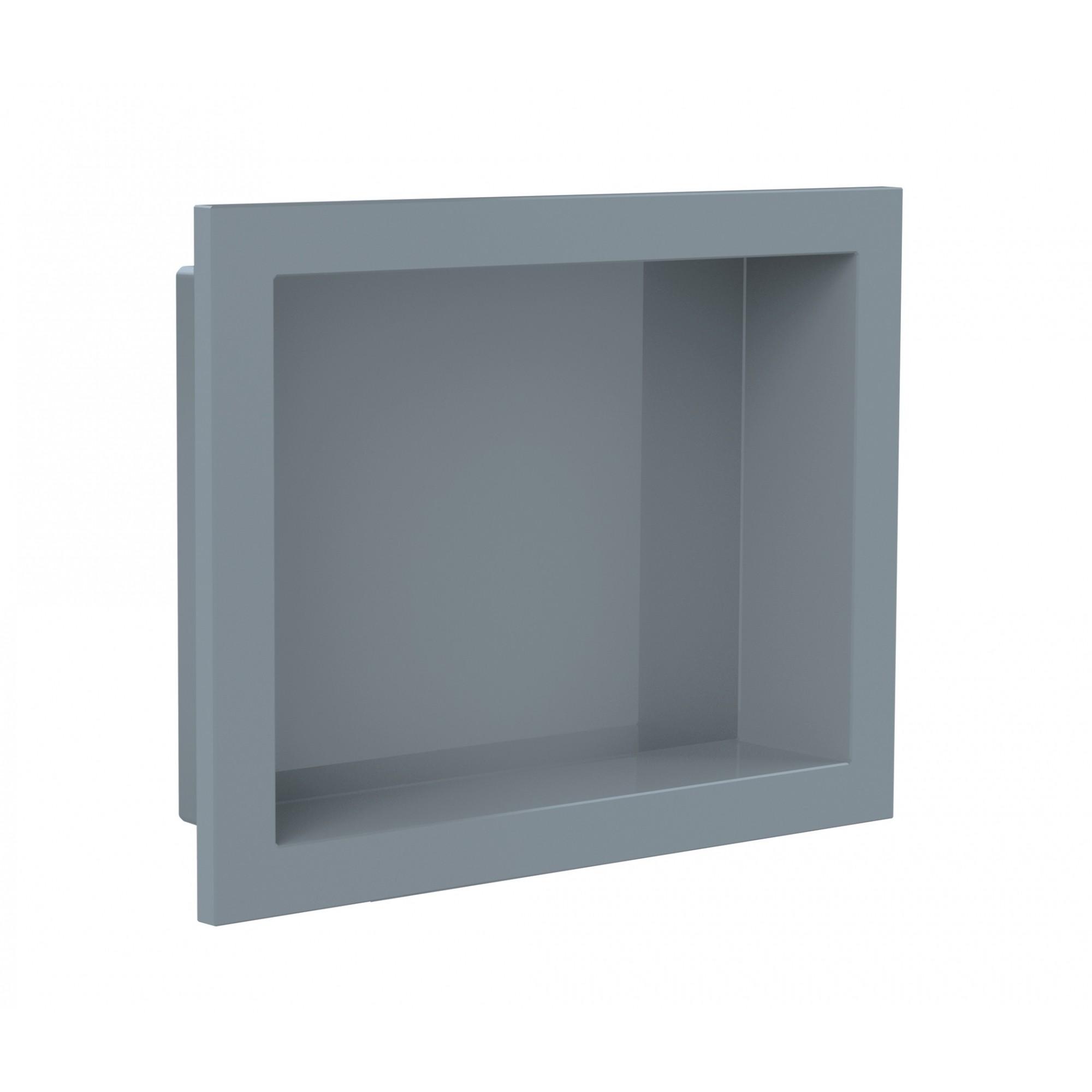 Nicho Para Banheiro Parede Embutir 30x40cm Cinza Urbano