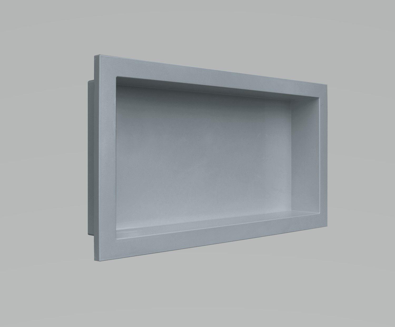 Nicho Para Banheiro Parede Embutir 30x60cm Cinza Urbano