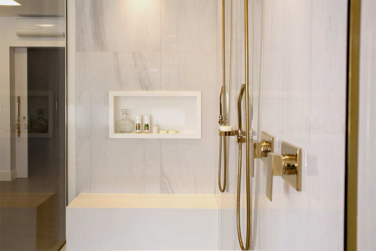 Nicho Para Banheiro Parede Embutir 30x60cm Branco