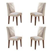 Conjunto Com 4 Cadeiras Berlim Cor Café Rufato Móveis