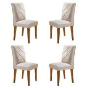 Conjunto Com 4 Cadeiras Berlim Cor Imbuia Rufato Móveis
