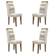 Conjunto Com 4 Cadeiras Imperatriz Cor Café Rufato Móveis