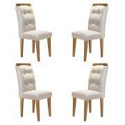 Conjunto Com 4 Cadeiras Imperatriz Cor Imbuia Rufato Móveis