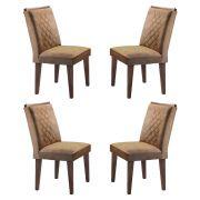 Conjunto Com 4 Cadeiras Jade Cor Café Rufato Móveis
